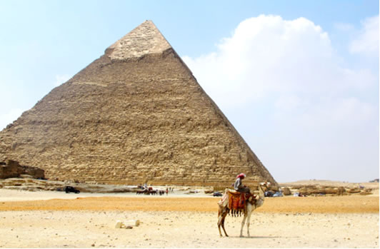 Gazing at Giza in Egypt